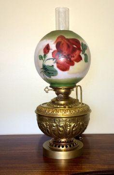Rochester Hinks Duplex Globe Banquet Lamp Antique Electric