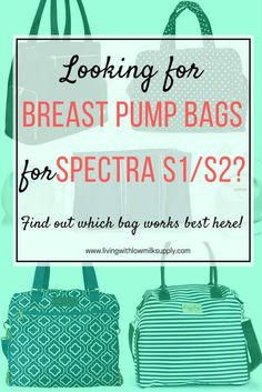 Are you looking for spectra breast pump bag for your Spectra S1 or S2? Click over to check my recommendation | Pumping Essentials for Pumping Moms