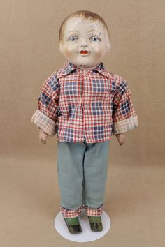 16 old antique Coleman Wooden Composition Walking Doll Toy 1917 Antique Dolls, Vintage Dolls, Collector Dolls, Old Antiques, Beautiful Dolls, Doll Toys, Old And New, Composition, Walking