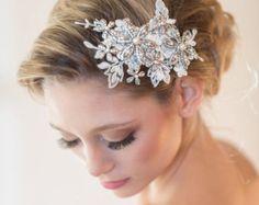 Spitzen Kopf Stück Hochzeit Perlen Perle Lace von PowderBlueBijoux