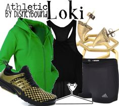 Loki athletic outfit by DisneyBound