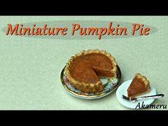 Miniature Pumpkin Pie - Polymer Clay Tutorial - YouTube