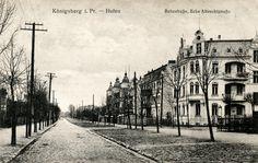 https://flic.kr/p/phKLjF | 358 Königsberg-Hufen - Albrechtstraße 1918 | Die Albrechtstraße (heute ul. Kosmonawta Pazajewa / ул. Космонавта Пацаева) im Königsberger Stadtteil Mittelhufen führte von der Hagenstraße zur Hindenburgstraße. Ansichtskarte ca. 1912.