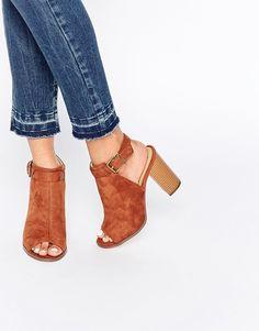 Image 1 of Boohoo Open Back Peep Toe Shoe Boot