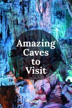 The earth has many beautiful wonders on its surface, but a surreal landscape lies below in caves. Humans have been exploring the earth's pockets for millennia, and there are still many of the marvels waiting to be discovered. Here, we've picked six incredible caves that you can visit. Now, we don't recommend exploring these caves on your own, unless you're a professional spelunker, but luckily, there are guided tours available for the more casual explorer.