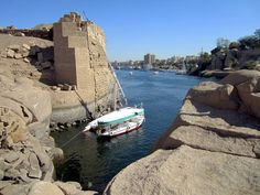 https://flic.kr/p/e83NLf | View Across the Nile | A view across the Nile to Aswan, Egypt, from the Abu ruins on Elephantine Island.