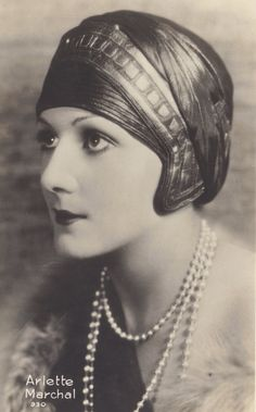 Arlette Marchal, French Silent Film Actress, in Amazing Art Deco Cloche circa…