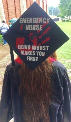 HE nurse graduation cap - New Deko Sites Graduation Cap Toppers, Graduation Cap Designs, Graduation Cap Decoration, Graduation Caps, Grad Cap, Graduation Ideas, Nursing Graduation Pictures, Nursing School Graduation, Nursing Pictures