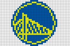 Golden State Warriors Pixel Art