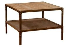 """Eastwood 28"""" Side Table, Natural/Rust"""