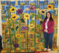 LuAnn Kessi: Sunflower Quilt........In Progress