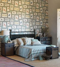 Picture Gallery Wallpaper by Sanderson | Jane Clayton