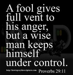 There is so much more in Proverbs 29 -- This one verse is wonderful, however, it can't begin to give you all of the information  that anger destroys.....