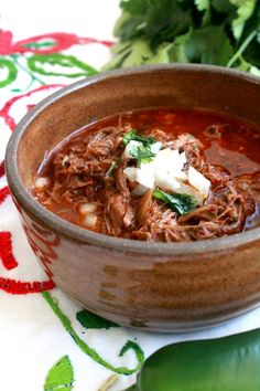 A big bowl of Birria de Res, or Mexican Beef stew, is the ultimate comfort food. Deep robust flavors that will make your tastebuds very happy. Enjoy!
