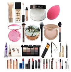 """""""Makeup kit X"""" by lucindachipman on Polyvore featuring beauty, Laura Mercier, NARS Cosmetics, tarte, Marc Jacobs, Hourglass Cosmetics, Urban Decay, Bobbi Brown Cosmetics, Charlotte Tilbury and Lipstick Queen"""