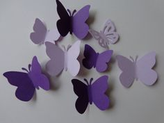 Large And Small Assortment of Purple and Lavender Butterflies by thingsbyjuju, $5.00. Great party, wedding, shower decorations.