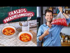 Nemcsak a háttérzenétől érzitek majd magatokat Olaszországban, hanem attól is, ha megkóstoljátok ezt a szuperédes paradicsomlevest. Vegetarian Recepies, Gazpacho, Green Kitchen, Tofu, Ramen, Ethnic Recipes