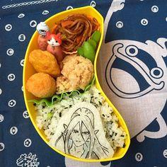 posted by @namimocchi 本日の学童弁当ぬらりひょん今週の妖怪はおしまいまた来週#obento...