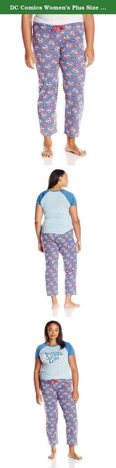 DC Comics Women's Plus Size Super Girl 2-Piece Pajama Set, Blue, 3X. Feeling like an extra powerful woman? If so you're probably in need of this super girl PJ set. This extra cozy pajama set is perfect for lounging or sleeping.
