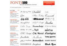 Fonts500.com, las mejores fuentes de internet
