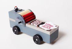 Letterpress Pinewood Derby Car