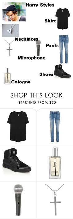 """""""No Control Outfit"""" by onedirectionforever1297 on Polyvore featuring Denham, Versace, Yves Saint Laurent, Galaxy Audio, Jewel Exclusive, men's fashion and menswear"""