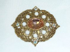 Vintage Victorian Revival Gold Tone Filigree by labaublesandbags, $18.00