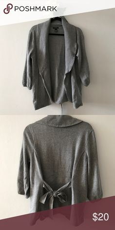 Alfani Cardigan Worn once. Excellent condition, like-new! You can tie a bow in the front or back. Alfani Sweaters Cardigans