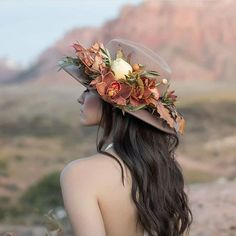 meet the new floral crown! thrilled to see our floral hat featured on this week! Wedding Hats, Headpiece Wedding, Bridal Headpieces, Boho Wedding, Floral Wedding, Wedding Trends, Wedding Makeup, Rustic Wedding, Flower Crown Bride