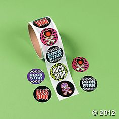 Rock Star stickers for monthly Prize Cart $2.50/ 100
