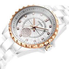 Fashion LONGBO 2018 New Women Clocks Luxury Casual Waterproof Quartz White Ceramic Gift Watches Ladies Wristwatches Gifts Female Montenegro, Sierra Leone, Belize, Uganda, Bubble, Ecuador, Cheap Gifts, Cook Islands, Goods And Services
