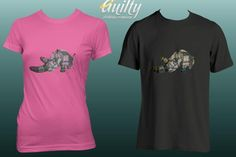 Guilty Rhino T-Shirt by Guilty & Co on hellopretty.co.za