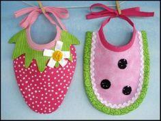 Strawberry & Watermelon Bibs   Baby   YouCanMakeThis.com