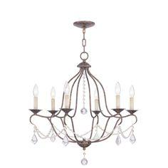 Livex Lighting Providence 6-Light Venetian Golden Bronze Incandescent Ceiling Chandelier