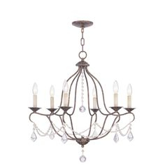 Filament Design 6-Light 26 in. Venetian Golden Bronze Chandelier-CLI-MEN6426-71 at The Home Depot   $398