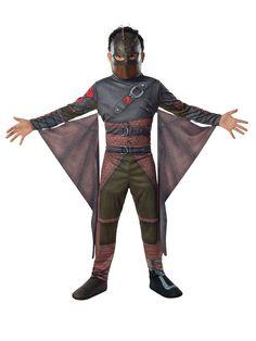 """Drachenzähmen leicht gemacht Hicks Kinderkostüm Lizenzware braun-schwarz, aus unserer Kategorie Film- & Promikostüme. Hicks ist der Held aus den """"Drachenzähmen leichtgemacht"""" Filmen und ist auf seinem Drachen Ohnezahn der Held der Lüfte. Jedes Kind möchte in die Rolle des tapferen Drachenreiters schlüpfen! Ein geniales Kostüm für Karneval und Mottopartys."""