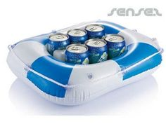 inflatable floating coolers - perfect for summer giveaways.
