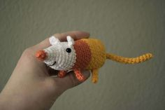 Candy Corn Rat, Amigurumi, Adventure Time, crochet von FluffieStuffDesign auf Etsy
