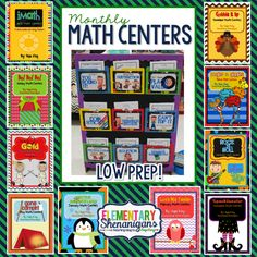 Monthly Math Centers!!!
