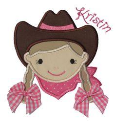 Cowgirl Applique Design