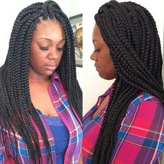 Neat and clean box braids
