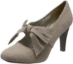 Amazon.com: Ann Marino Women's Lotto Pump,Taupe Fabric,9 M US: Shoes