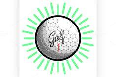 Color vintage golf emblems  @creativework247