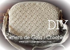 Cómo hacer una cartera de fiesta al crochet / Tutorial DIY | Crochet y Dos agujas
