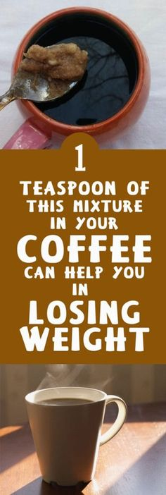 1 Teaspoon of This Mixture in Your Coffee Can Help You in Losing Weight.