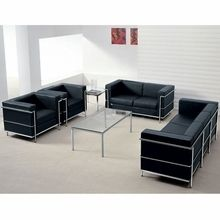 contemporary waiting room furniture. Delighful Contemporary Flash Furniture Contemporary Black Leather Lounge Set   FurnitureSets On Waiting Room E