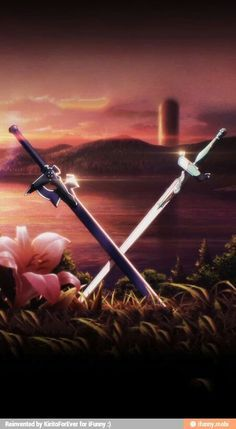 Sword Art Online is an anime series which features a virtual reality game where being the strongest is what matters most. Kirito Kirigaya, the anime series' main male protagonist spends most of his time playing video games to avoid real-life. Schwertkunst Online, Arte Online, Online Anime, Kirito Kirigaya, Kirito Asuna, Kirito Sword, Sao Anime, Sword Art Online Wallpaper, Sword Art Online Kirito
