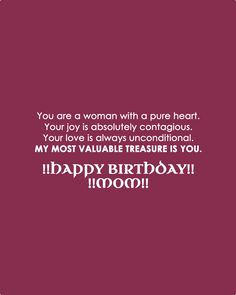 Mother Happy Birthday Card and quotes