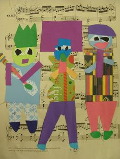 3 musicians collage