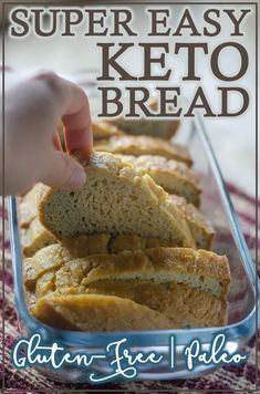 Super Easy Keto Bread - The Harvest Skillet Looking for a go-to low-carb bread recipe? This super easy keto bread will be your new favorite! It's delicious and perfect for pretty much Best Low Carb Bread, No Bread Diet, Low Carb Keto, No Carb Bread, Keto Carbs, Low Calorie Bread, Dairy Free Low Carb, Easy Keto Bread Recipe, Lowest Carb Bread Recipe